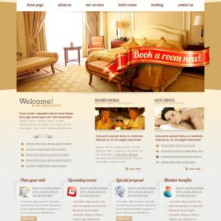 Central Hotels PSD Website Template