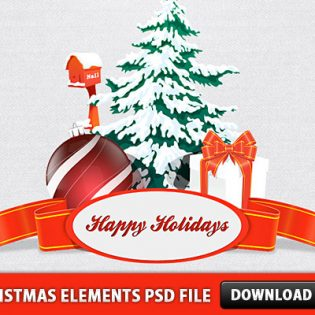 Christmas Elements PSD File