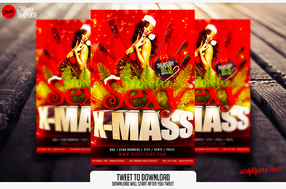 Christmas Flyer Template Free Psd Download Download Psd