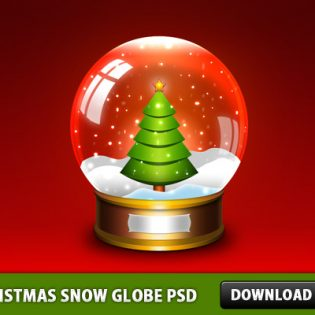 Christmas Snow Globe PSD File