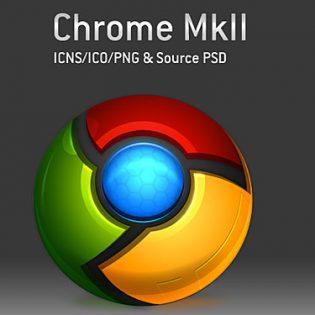 Google Chrome Icon PSD
