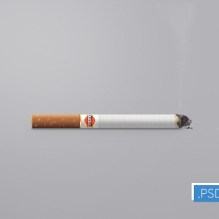 Cigarette Icon PSD file