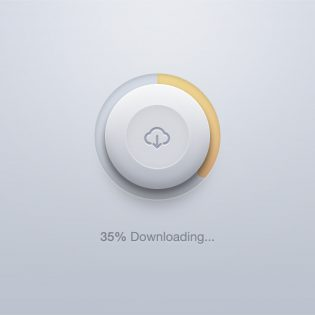Circular Download Button PSD With Loader