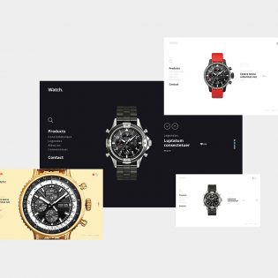 Clean Minimal Product Showcase Page Free PSD