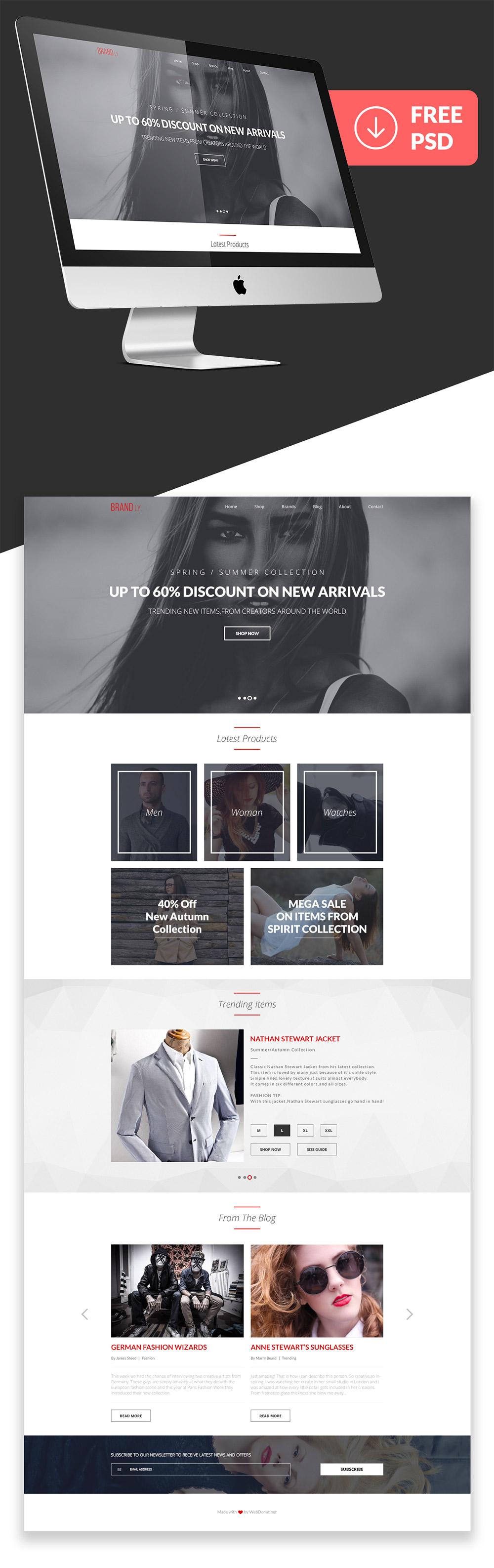 Fashion web templates free download 81