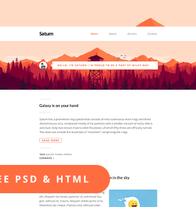 Clean Personal Website Page Free PSD Template