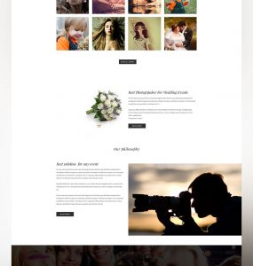 Clean Photographer Website Template PSD Freebie