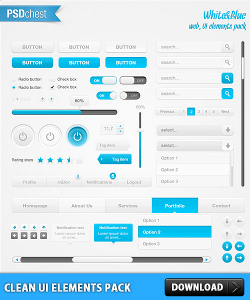 Clean UI Element Pack PSD Web Resources, Web Elements, Web Element, Web Design, Web 2.0, Web, User Interface, UI, Turn Off, Shut Down, Search, Scrollbar, Resources, Radio Button, Psd Templates, PSD Sources, psd resources, PSD images, psd free download, psd free, PSD file, psd download, PSD, Navigation, Navi, Menu, Layered PSDs, Icons, Icon Set, Icon PSD, GUI, Free PSD, Free Icons, Free Icon, Elements, Drop Down, download psd, download free psd, Clean, Check Box, Buttons,