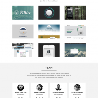 Clean White Portfolio Website Template PSD