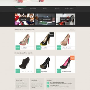 Clean eCommerce Shopping Website PSD Template