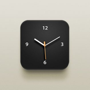 Clock iOS Icon PSD file