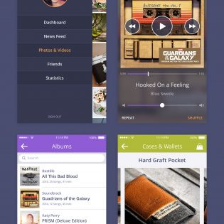 Colorful App UI Kit PSD Freebie