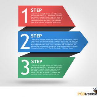 Colorful Progress Steps Template PSD