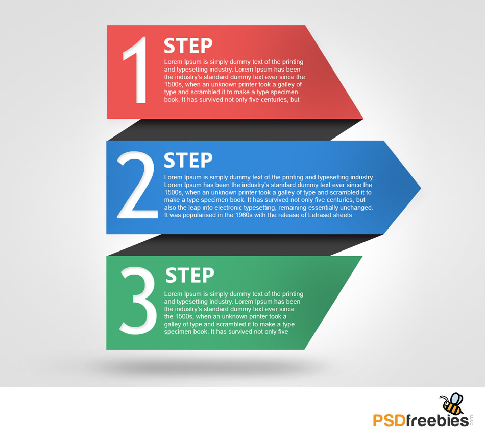 Colorful Progress Steps Template PSD