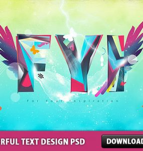 Colorful Text Design PSD Wings Typography Typo Text Style Text Effect Text Psd Templates PSD Sources psd resources PSD images psd free download psd free PSD file psd download PSD Layered PSDs Graphics FYI Free PSD download psd download free psd Colorful Graphics Colorful