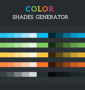 Colour Shades Generator tool PSD useful Tool Simple shades Resource PSD palette gradient generator Freebie Free Download Colour Colorful color palette Color