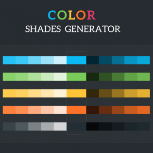 Colour Shades Generator tool PSD