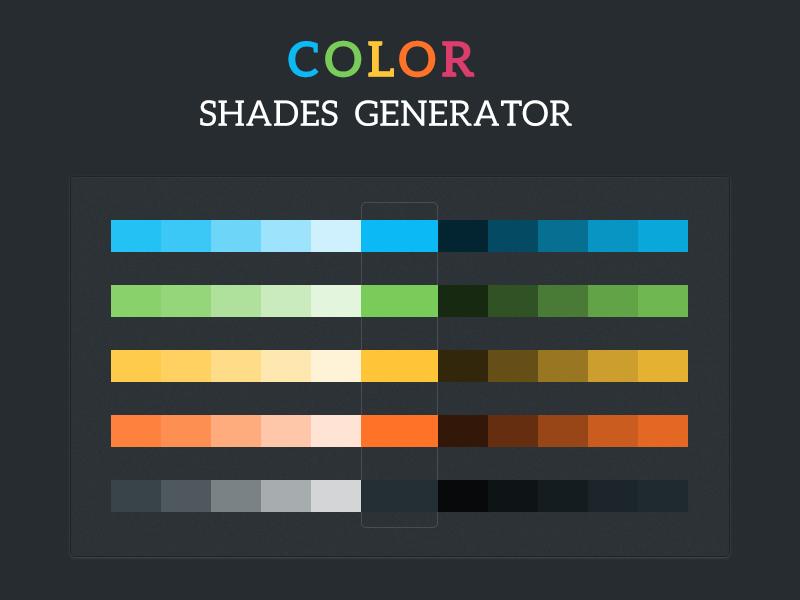 Colour Shades Generator tool PSD