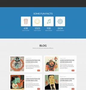 Colourful One-Page Portfolio PSD Template Design