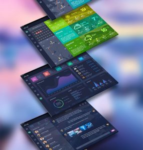 Colourful Traveler Application Dashboard Free PSD