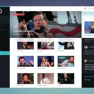 Comedy Central Concept PSD Webpage