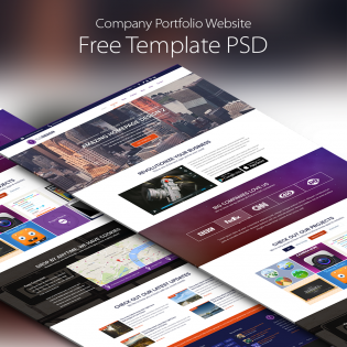 Download PSD  Company Portfolio Template