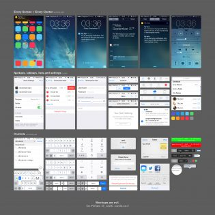 Complete iOS7 UI Elements Free PSD