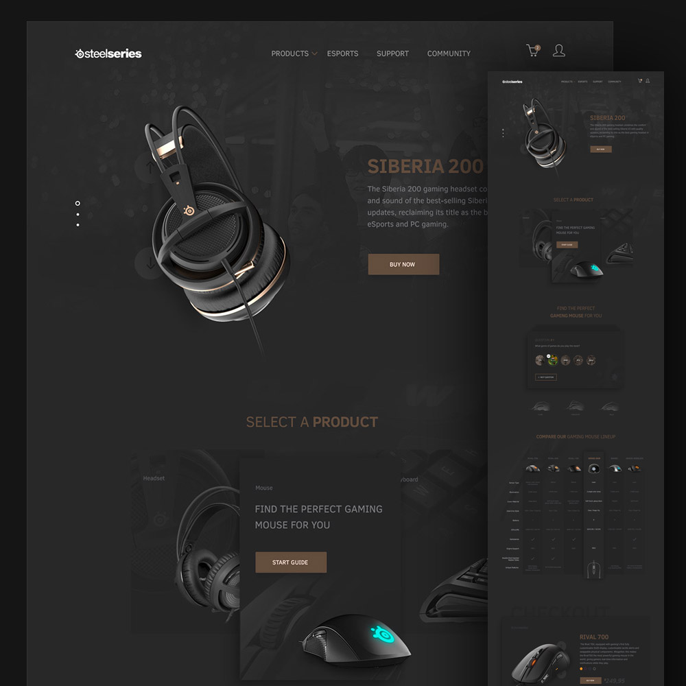 Computer Accessories Website Template Free PSD Download - Download PSD