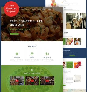 Cooking Blog Website Template Free PSD