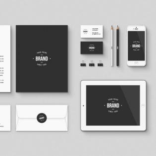 Corporate Brand identity Free Mockup PSD Kit
