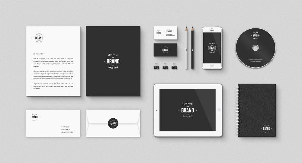 Corporate Brand Identity Free Mockup Psd Kit Download