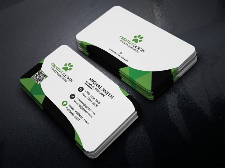 corporate business card psd