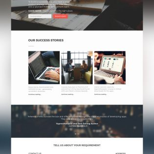 Corporate Business Website Template Free PSD