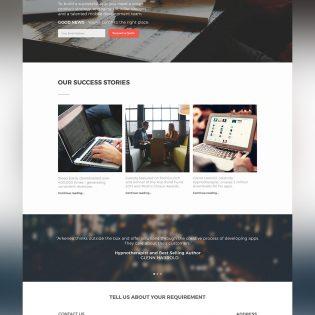 Corporate Business Website Template Free PSD