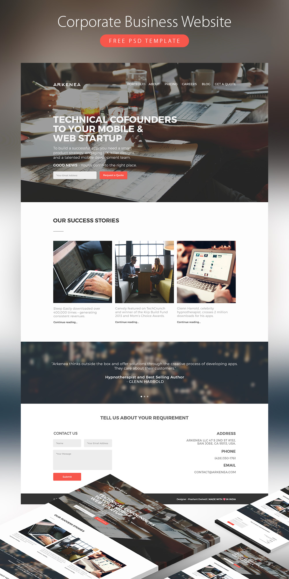 Corporate business website template free psd download psd corporate business website template free psd wajeb Gallery