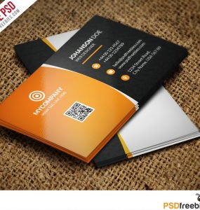 Corporate Business card Bundle Free PSD
