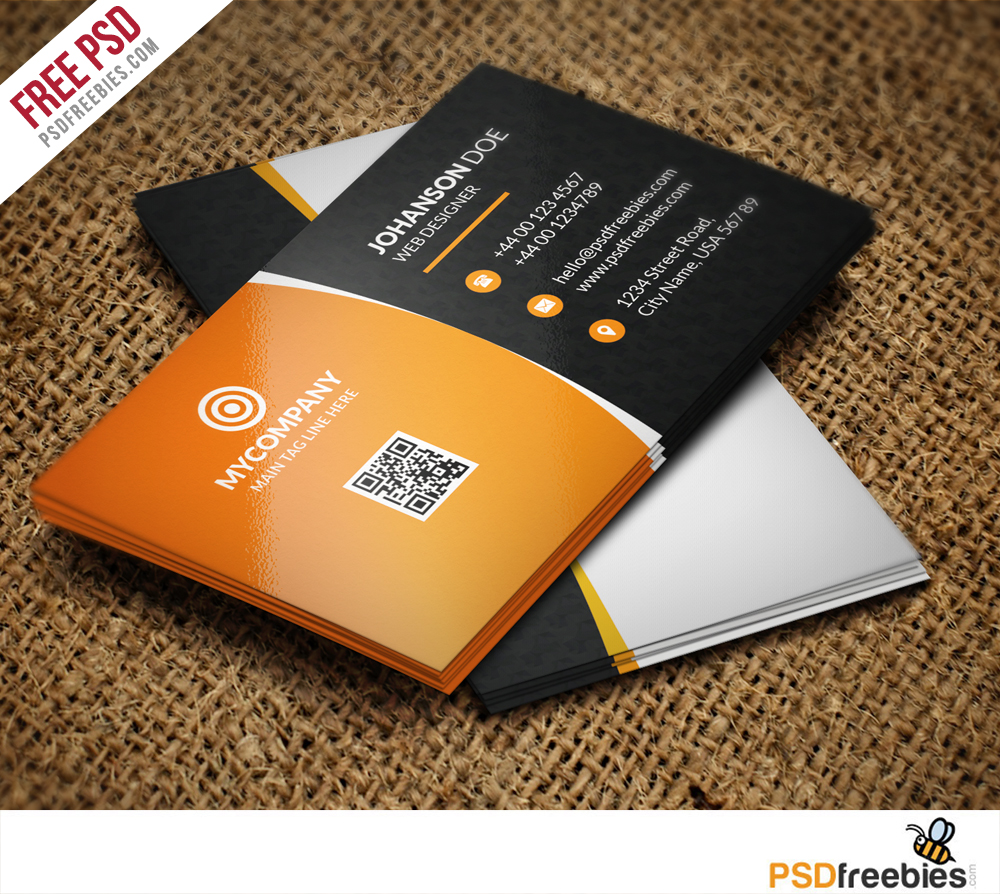 Download free qr code business card psd download psd friedricerecipe Gallery