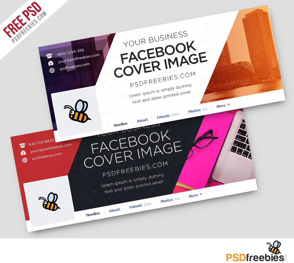 Corporate facebook covers free psd template download psd for Facebook page design template free