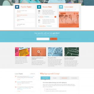 Corporate Magazine Free Homepage PSD