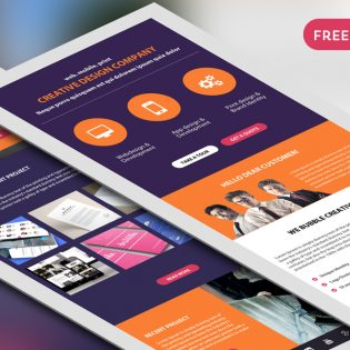 Corporate Newsletter Free PSD Template