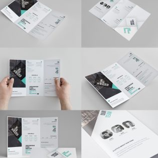 Corporate Tri-fold Brochure Template Free PSD