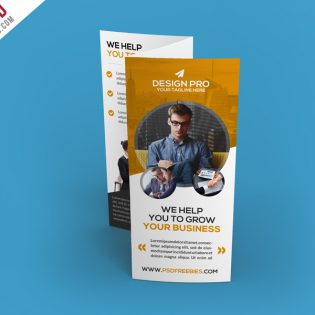 Corporate Trifold Brochure Template Free PSD