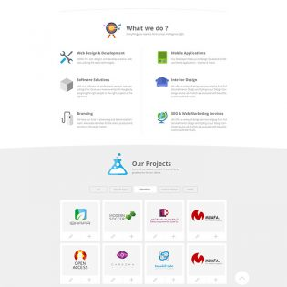 Creative Agency Website Free PSD Template