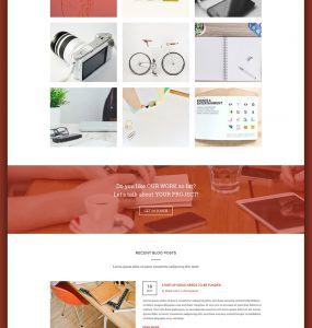 Creative Agency Website Homepage PSD Template