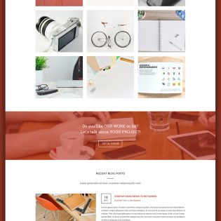 Creative Agency Website Homepage PSD Template