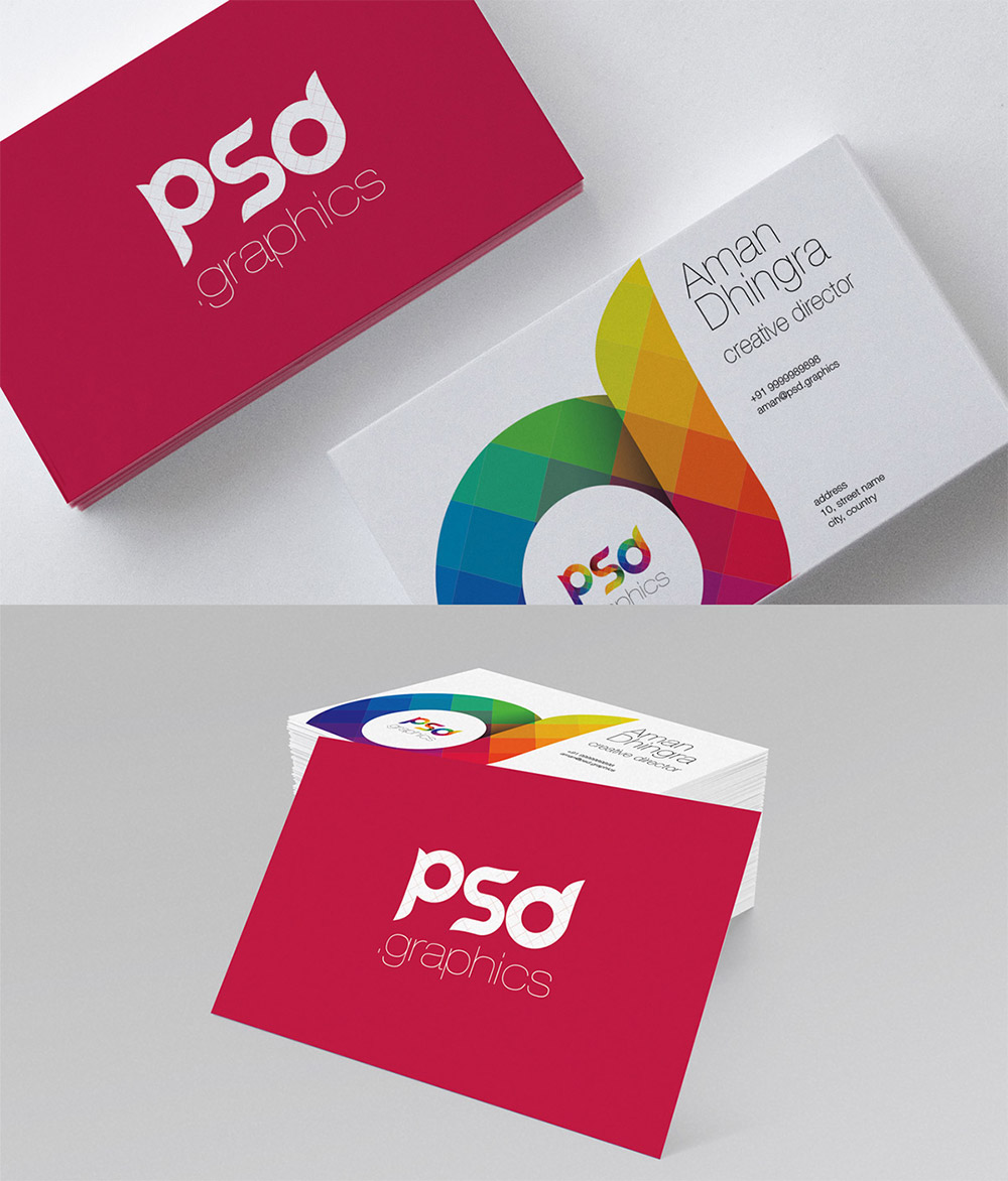 Creative Business Card Free Psd Graphics Work Visiting Unique Trend Thin