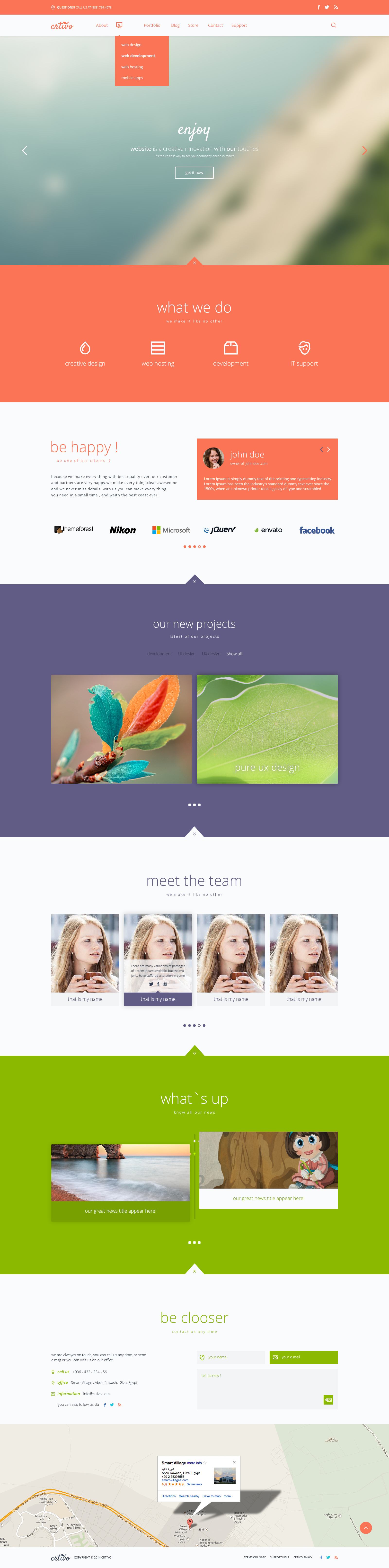 Creative Business Single Page PSD Template