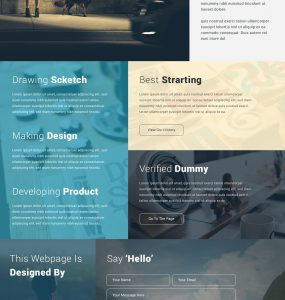 Creative Corporate Website Design Template PSD