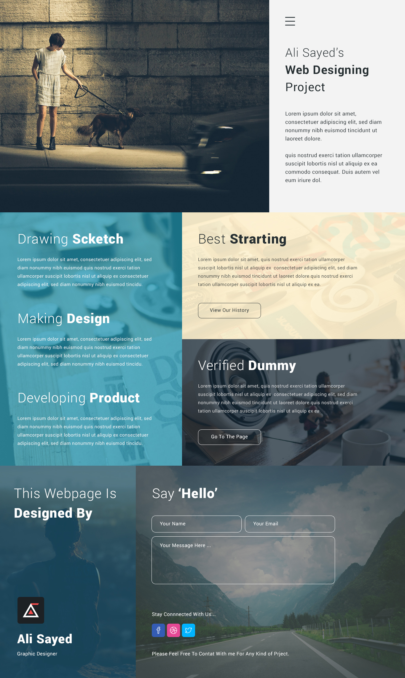 creative corporate website design template psd download psd