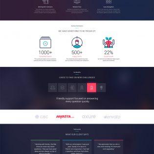 Creative Design Agencies Website Template Free PSD